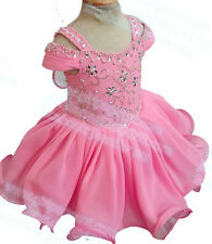 INFANT/TODDLER/BABY/CHILDREN CRYSTALS BEADED PAGEANT PARTY DRESS G212-2