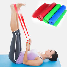Rubber Elastic Stretch Yoga Band Pilates Resistance Band 1.2M/1.5M Exercise Band