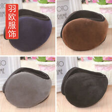 Mens Plush Earmuff Plain Winter Ear Muff Wrap Band Warmer Grip