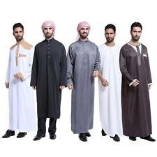 Men Charm Saudi Thobe Galabeya Thoub Abaya Dishdasha Arabic Kaftan Muslim Dress
