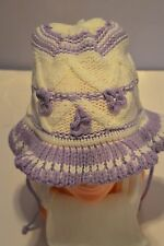 Baby Kids Girls Hat with Scarf Tie Up Baby Hat Winter Set Cap with Scarf Warm