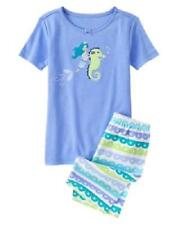 GYMBOREE GIRLS BLUE MERMAID SEAHORSE SHORTS GYMMIES PAJAMAS 3 4 6 8 NWT