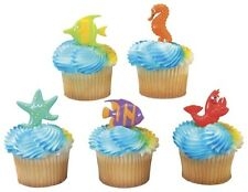 Sea Ocean Friends {Starfish, Seahorse, Fish} Cupcake Topper Picks - Set of 12
