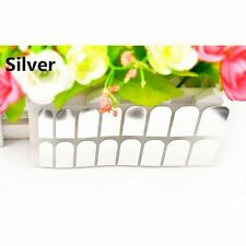 Armour Decoration 16 Pcs Stickers Decal Foils Smooth Art Patch Nail Silver