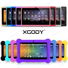 "XGODY 7"" Kids Children Tablet PC Android 4.4 4 Core 8GB Bundle Case Multi-Color"