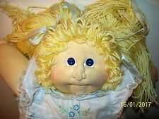 Signed 1981 Xavier Roberts Ponytail Blonde Soft Sculpture Cabbage Patch Girl