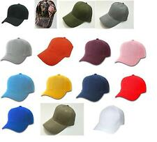 144 CT WHOLESALE LOT Plain Blank CURVED BILL Strap Back YW Poly BASEBALL CAPS