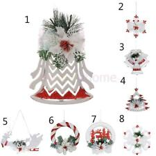 Xmas Santa Claus Elk Jingle Bell Christmas Tree Hanging Ornament Decoration Gift