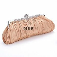 Women Satin Clutch Party Wedding Purse Evening Bag Bridal Elegant Handbag Wallet
