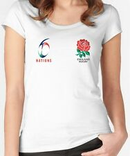 England Rugby Six Nations 2017 T Shirt Top Ladies