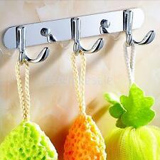 Metal Bathroom Kitchen Wall Door Mounted Bag Hanger Coat Hat Towel Hook Rack