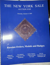 NY Sale Russian Orders, Medals and Badges Markov Auction XXII Jan. 2009