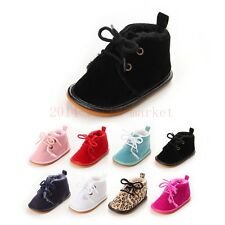 Toddler Boots White/brown/red infant baby girls boys crib shoes 0-18months soft