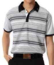 New SUB70 SubSeventy Mens Zane PolarDry Performance Golf Pique Polo Shirt T GREY