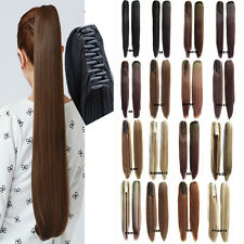 Big 16 color 21.6'' Long Straight Claw Clip Hair Ponytail Hair Extension