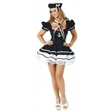 Pin Up Girl Sailor Costume Adult Sexy Womens Halloween Fancy Dress Outfit