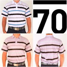 New Sub70 Golf Tour Performance Stripe Polo Shirt  T Top SubSeventy Free P&P