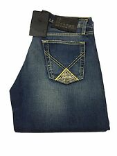 ROY ROGERS men's jeans mod P57 DENIM DE LUXE with button 100% cotone MADE IN ITA
