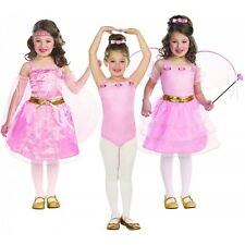 Princess Costume Kids 3-in-1 Ballerina, Fairy & Princess Outfits Fancy Dress Up