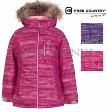 Free Country Girls Radiance Boarder Ski Jacket Winter Coat with Faux Fur Hood