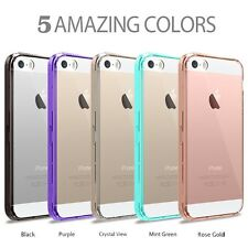 Hybrid Slim Crystal Clear Back TPU Bumper Case Cover for iphone SE 5S 5G
