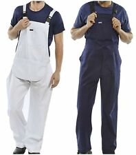 Mens Click Bib And Brace Painters Overalls Coveralls Cotton Drill Work Workwear