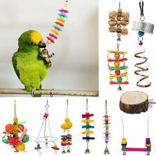 Pet Birds Swing Cage Stand Chew Bite Toys for Parakeet Cockatiel Conure Parrot