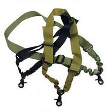 Tactical Single one 1 Point Sling Rifle Gun Sling Bungee - Adjustable EF