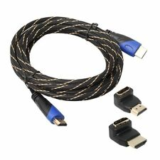 1.5FT-30FT 1080P Braided HDMI Cable V1.4 AV HD 3D+HDMI Adapter for PS3 Xbox HDTV