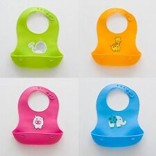 New Silicone Baby Kids Bibs Waterproof Saliva Towel Cartoon Bib Feeding Bandana