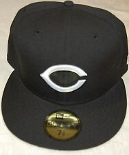 Cincinnati REDS ALTERNATE Black New Era 59FIFTY Fitted Caps MLB On Field Hats