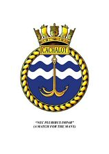 HMS Cachalot Embroidered Polo Shirts