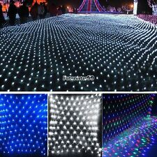2M x 2M 144 Led Bulbs Net Fairy Lights For Xmas Party Wedding Outdoor FT