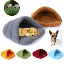 Pet Cat Dog Nest Bed Puppy Cave House Winter Sleeping Bag Mat Pad Soft Warm