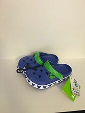 Crocs Light Up Blue Green Disney Mickey Mouse Clogs Youth NWT