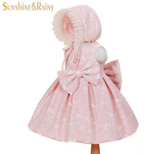 New Arrive 2017 Baby Girl Big Bow Party Dresses Christening Gowns Birthday Dress