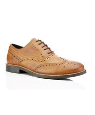 RED TAPE BRADSHAW RED BROWN FORMAL BROGUES SHOES