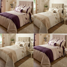 Catherine Lansfield Rich Floral Faux Silk Quilted Bedspread, 240 x 260 Cm
