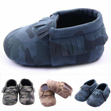 0-12M Infant Girls Boys Camo Baby Shoes Leater Toddler Soft Sole Shoes Prewalker