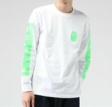 A BATHING APE LOGO L / S TEE Printed Mens Long-sleeved Cotton T-shirt From Japan