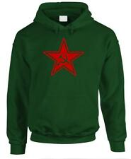 RUSSIAN COMMUNIST STAR - retro 80's cccp commie - Fleece PULLOVER Hoodie