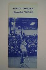 Vintage Basketball Media Press Guide Ithaca College 1974 1975