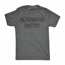 Mens Alternative Facts Funny Politics United States of America T shirt