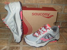 New Saucony Grid Excursion TR9 Womens Trail Runnng Shoe/Gray-Plum-Coral $70