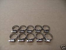 WORM DRIVE HOSE CLAMPS Pack of 10 STAINLESS STEEL 16mm to 32mm Made in Taiwan