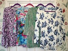 Green Pink Blue 10 16 18 20 22/24  HIGH STREET Floral Multi Long 3/4 Sleeve Top