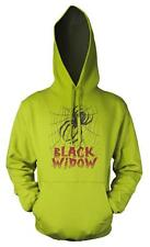 BNWT BLACK WIDOW SPIDER COBWEB POISON HOODIE HOOD KIDS CHILDS  3-12 YRS