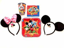 Minnie Mickey Mouse Ears Black Pink Place Settings Birthday Party Favors