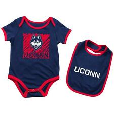 UCONN Connecticut Huskies Infant Look at the Baby Onesie and Bib Set