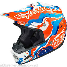 "TROY LEE DESIGNS TLD ""GALAXY"" SE3 PRO MX SX OFF ROAD MOTOCROSS HELMET SIZE M"